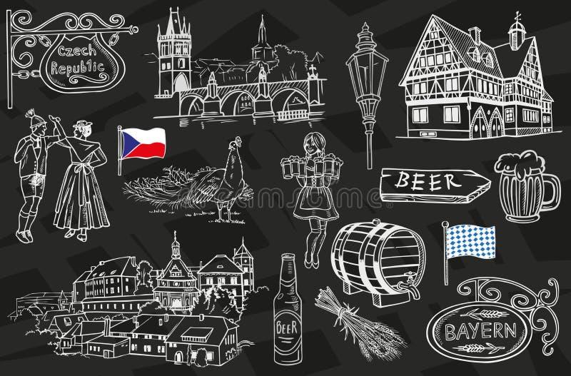 République Tchèque et la Bavière illustration libre de droits