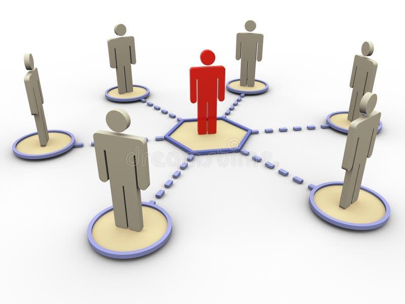 réseau 3d des gens illustration de vecteur