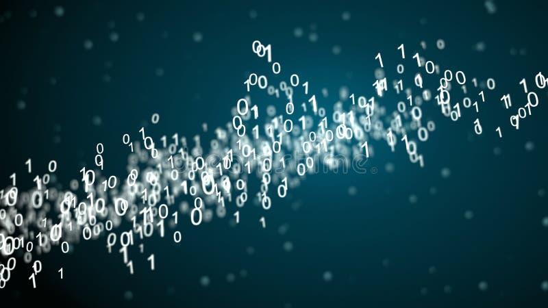Réseau abstrait avec le code binaire illustration stock