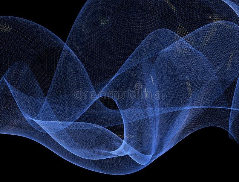 Réseau abstrait de l'araignée 3d, ondulant illustration libre de droits