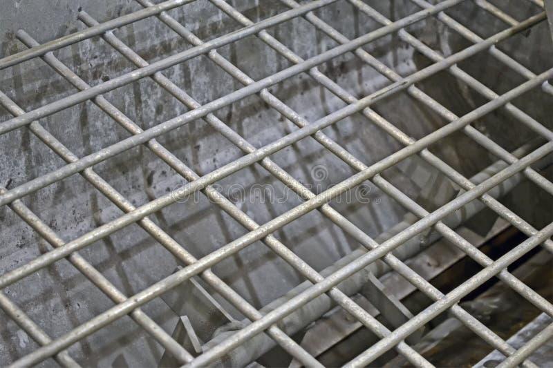 Réseau argenté abstrait en métal, groupes d'industrie, images stock