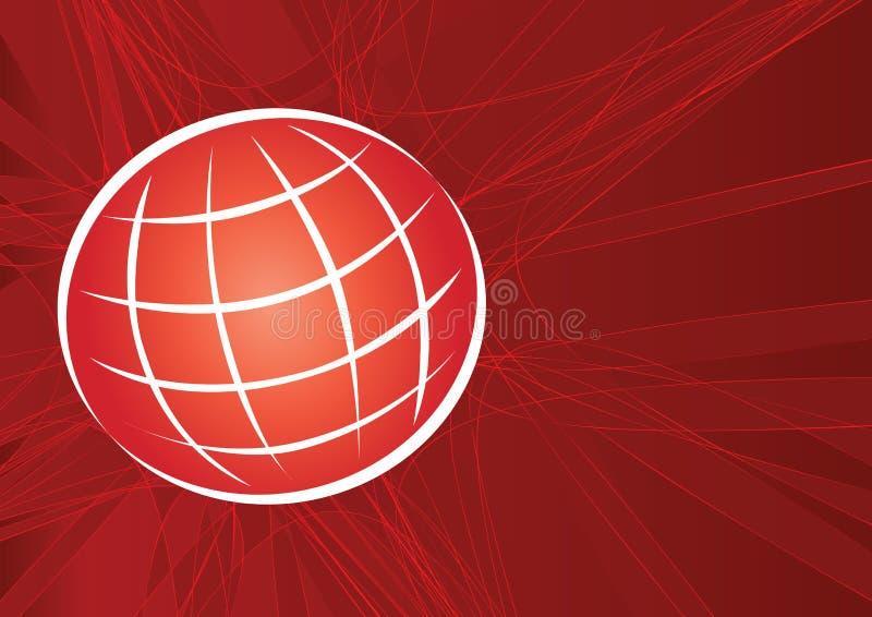 réseau artistique de globe illustration libre de droits