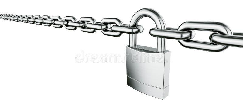 Réseau avec le cadenas illustration libre de droits