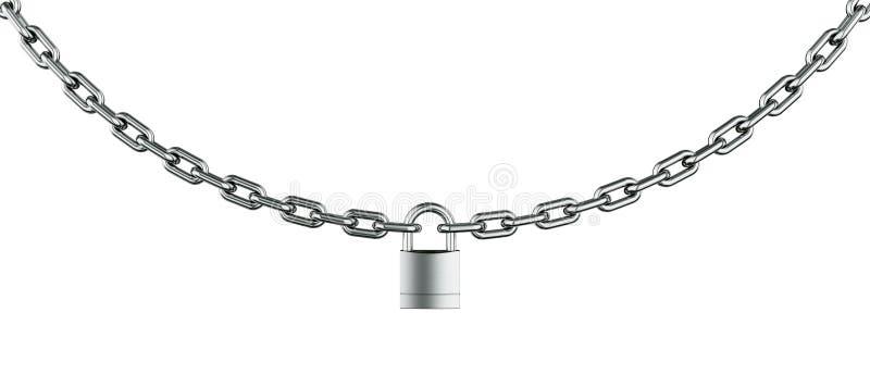 Réseau avec le cadenas illustration de vecteur