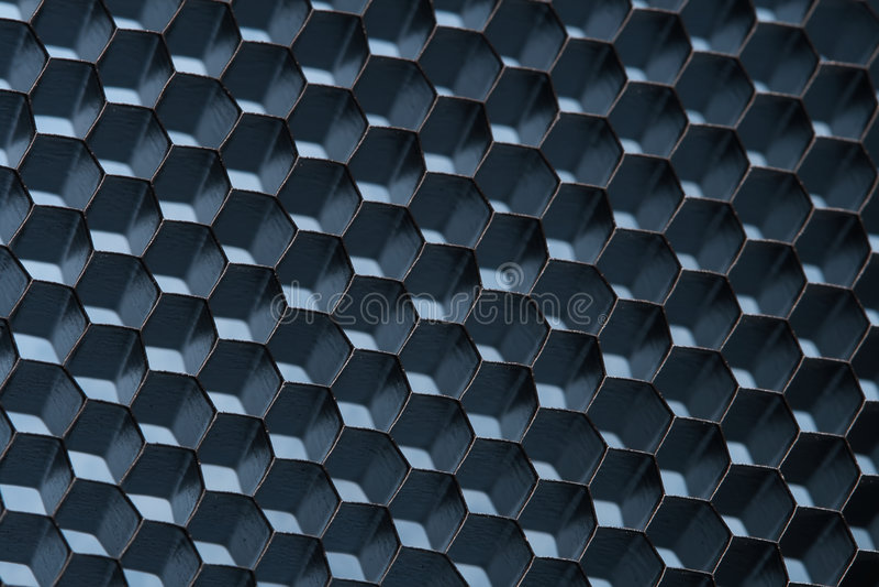 Réseau bleu de nid d'abeilles ; macro projectile ; DOF peu profond image libre de droits
