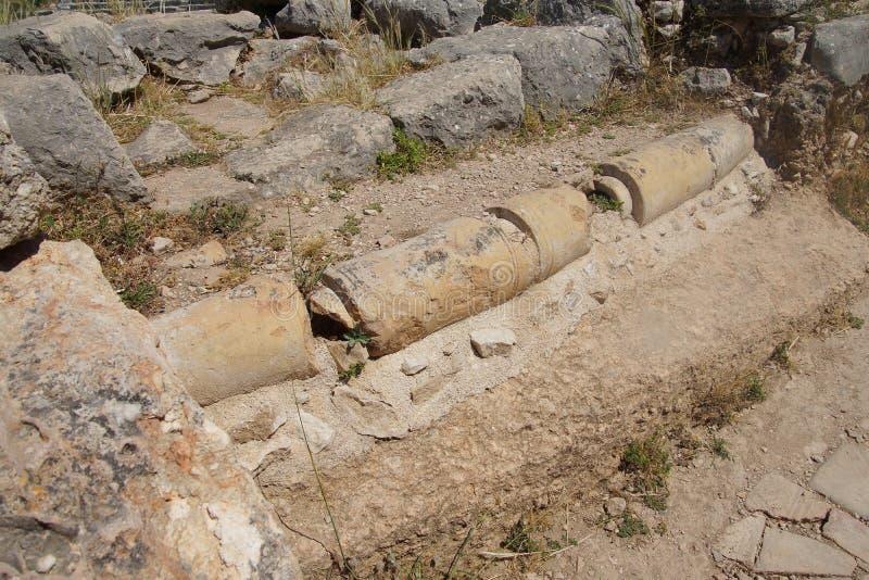 Réseau d'égouts romain antique images libres de droits