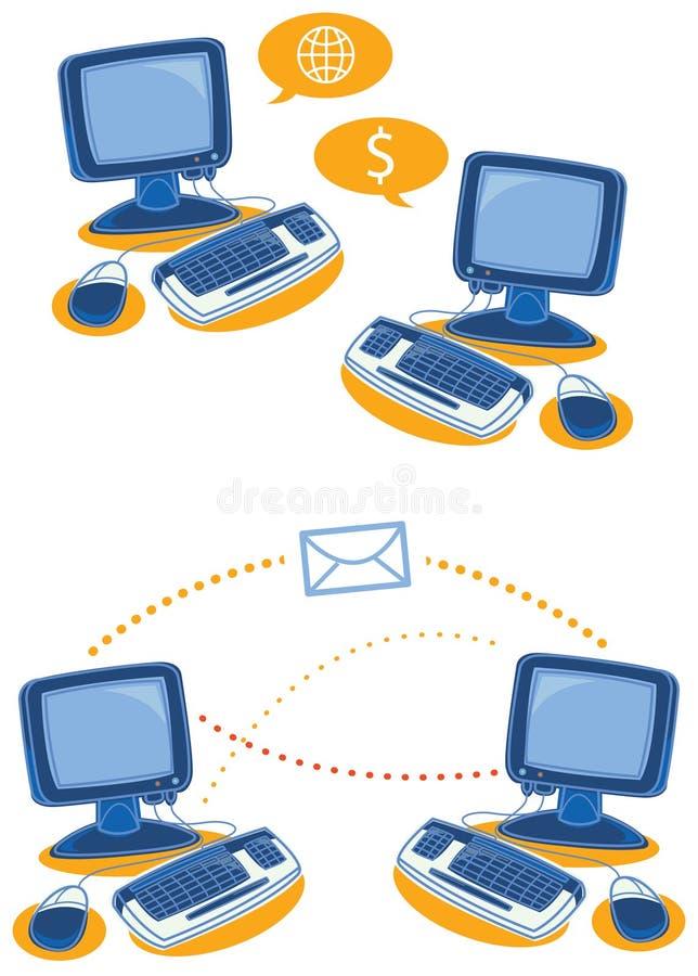 réseau d'affaires illustration de vecteur