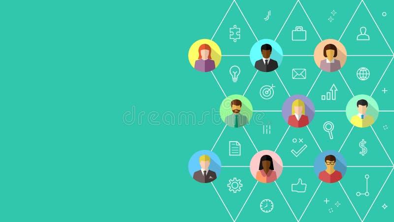 Réseau d'affaires et concept d'association illustration de vecteur