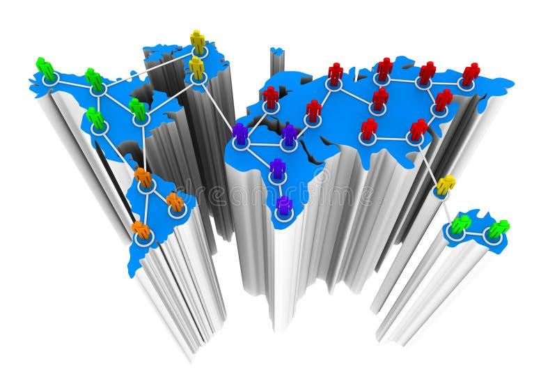 Réseau d'affaires globales illustration stock