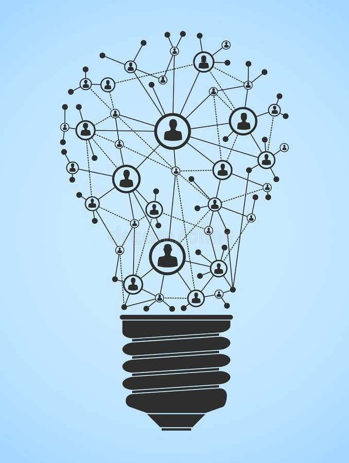 Réseau d'ampoule de Ligh illustration libre de droits