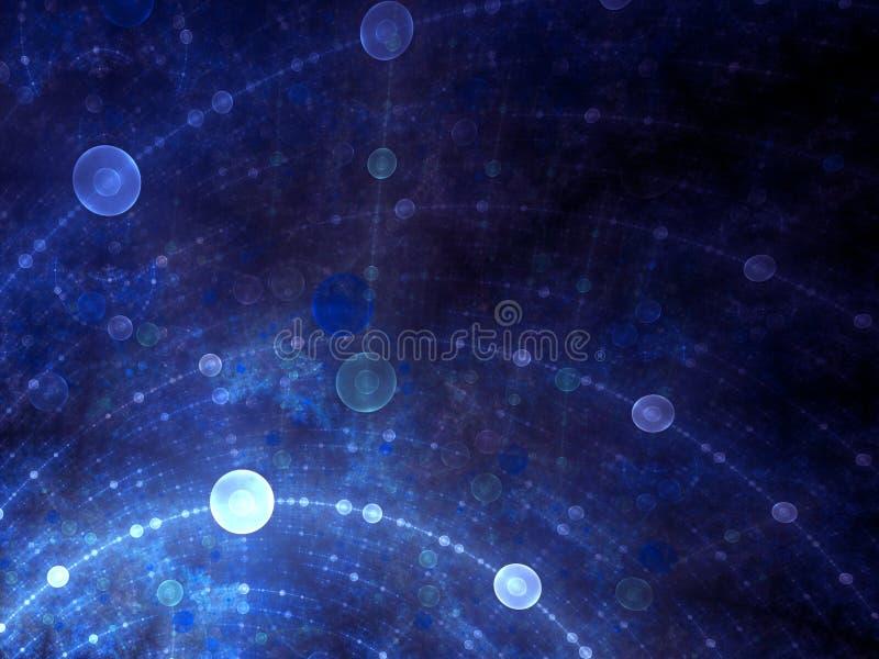 Réseau d'espace-temps de bulle illustration de vecteur