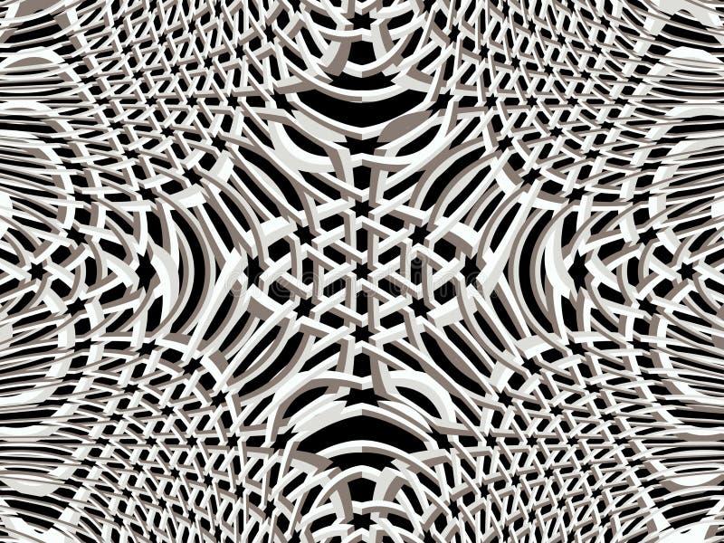 réseau 3d Modèle psychédélique décoratif Dessin de fractale photographie stock libre de droits