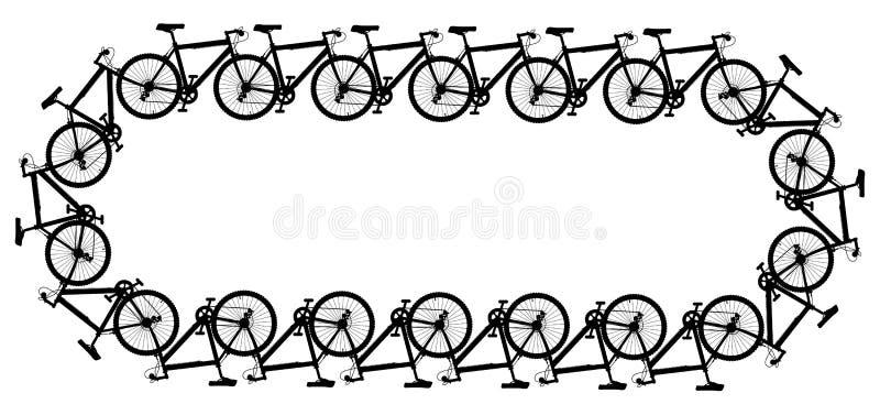 Réseau de bicyclette illustration libre de droits