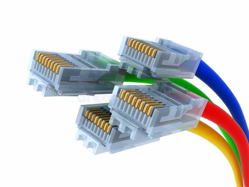 Réseau de câble illustration stock