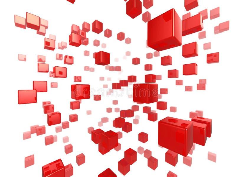 Réseau de cube photographie stock