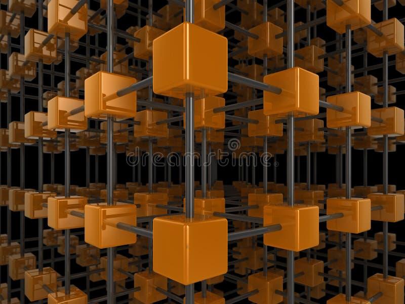 réseau de cube illustration stock