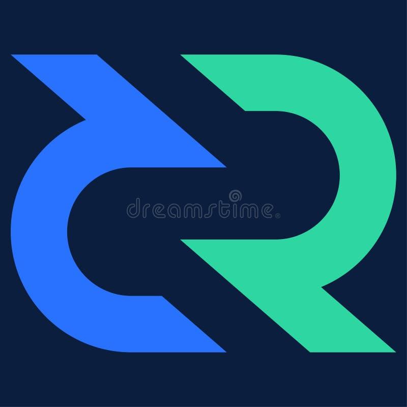 Réseau de DCR de Decred crypto illustration libre de droits