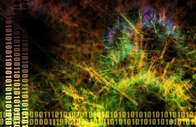 réseau de fichier de données partageant le Web illustration de vecteur