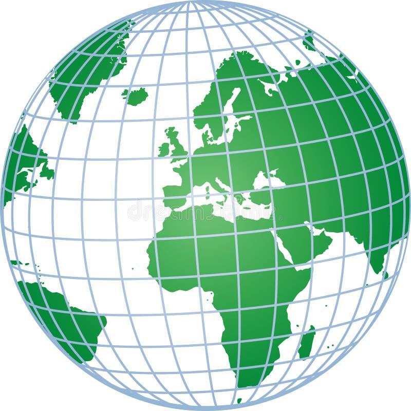 réseau de globe illustration de vecteur