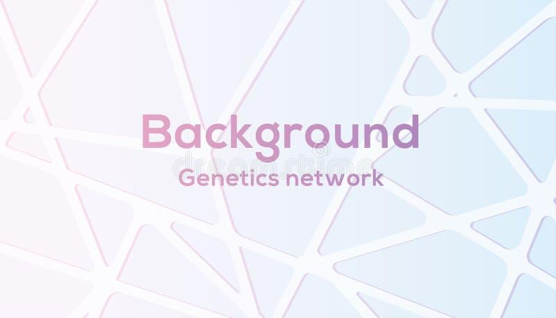 Réseau de la génétique de fond de vecteur dans la couleur mignonne illustration de vecteur