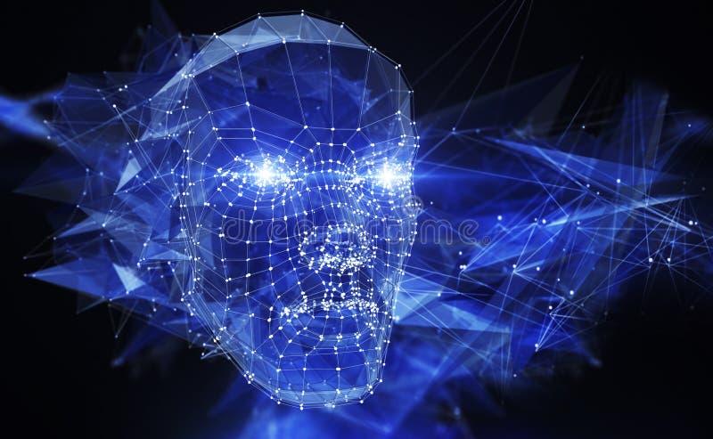 Réseau de neurone illustration de vecteur