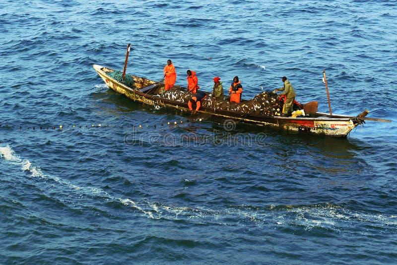 Réseau de pêche en Afrique photo stock