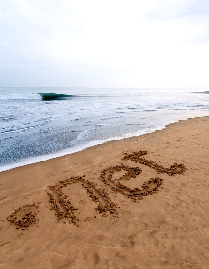 Réseau de point sur le sable photo stock