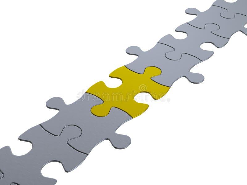 Réseau de puzzle denteux illustration libre de droits