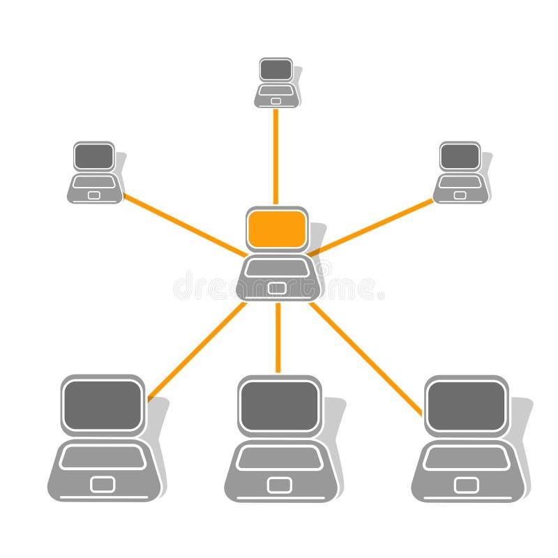 Réseau de réseau local illustration libre de droits