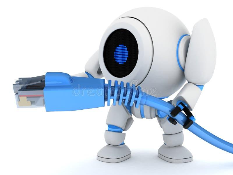 Réseau de robot et de câble illustration stock