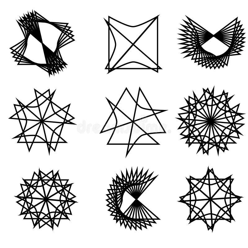 Réseau de social d'ADN de composés chimiques d'atomes et de molécules illustration stock