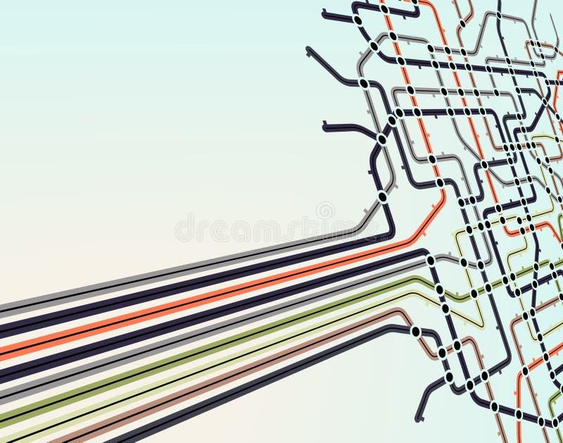 Réseau de souterrain illustration de vecteur