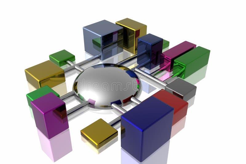 réseau des connexions 3d illustration de vecteur