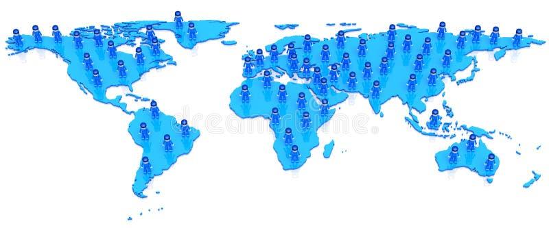 Réseau du monde de MiniToy illustration libre de droits