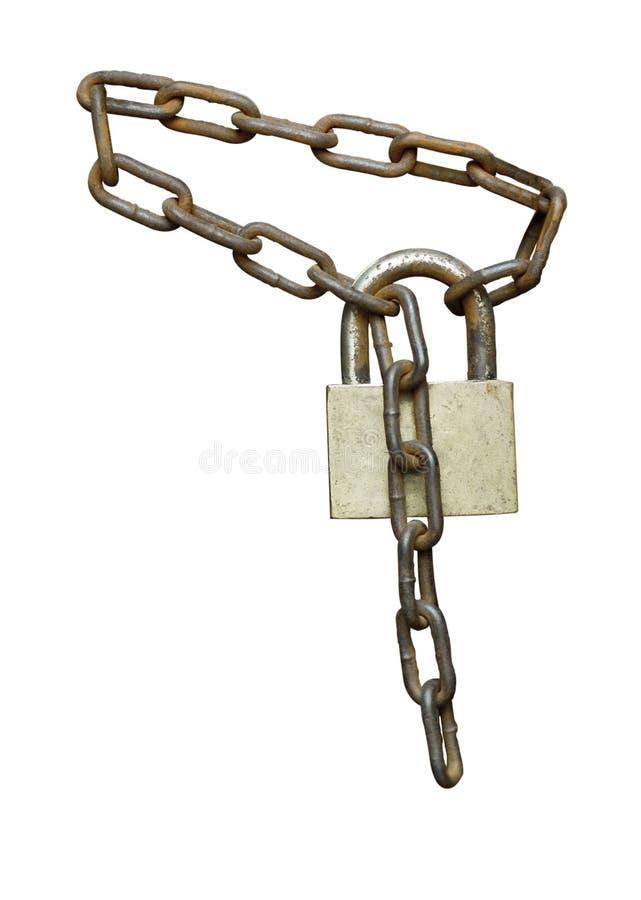 Réseau et cadenas images stock