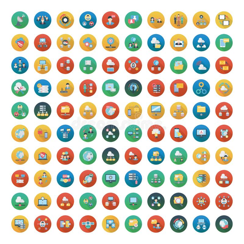 Réseau 100 et communication illustration stock