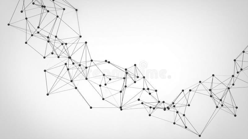 Réseau futuriste de technologie abstraite - fond de plexus illustration libre de droits