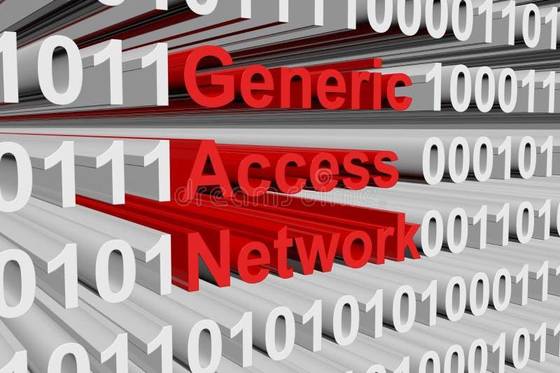Réseau générique d'Access illustration libre de droits