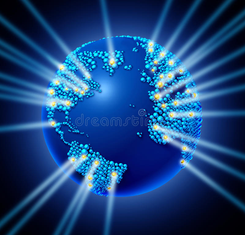 Réseau global illustration libre de droits