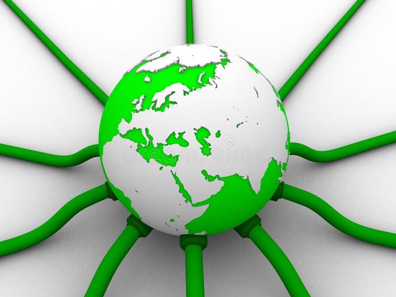 Réseau global illustration de vecteur