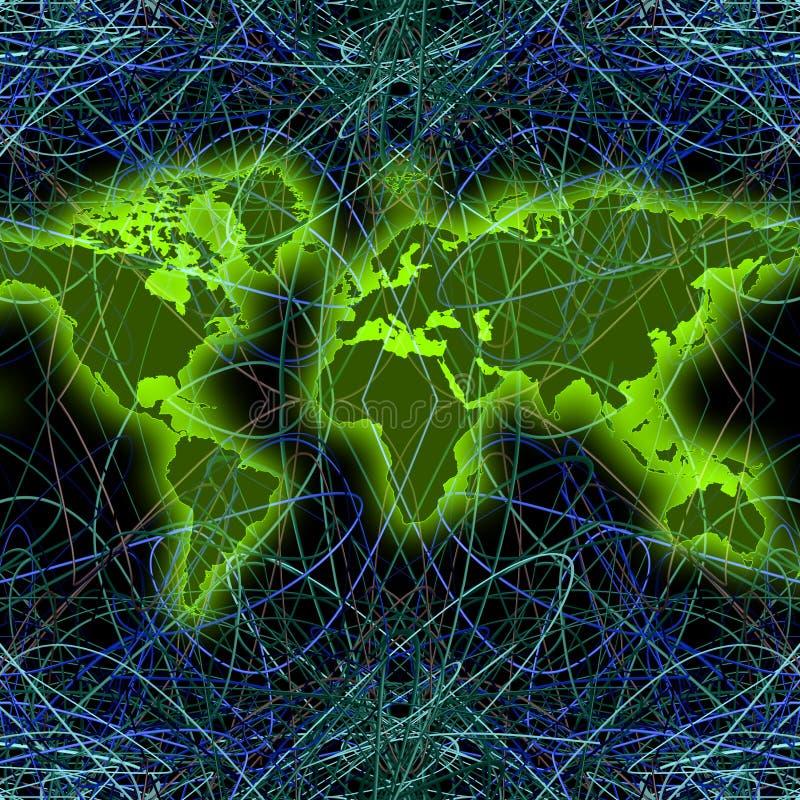 réseau global de Monde-carte (02) illustration stock