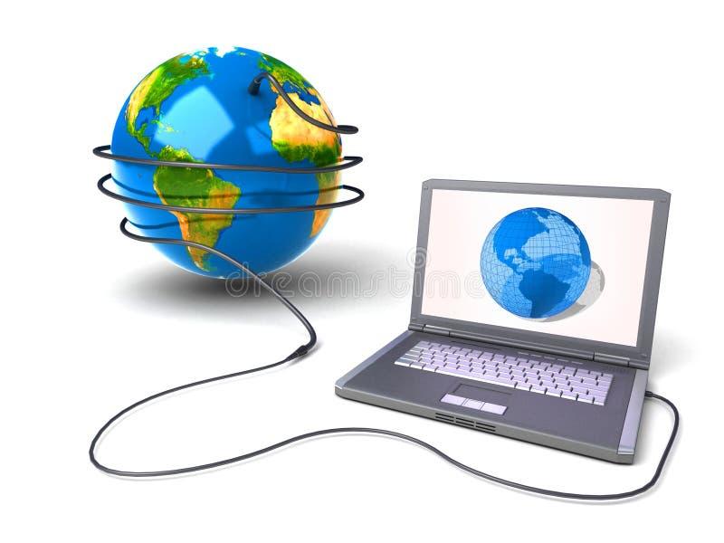 Réseau global l'Internet illustration de vecteur