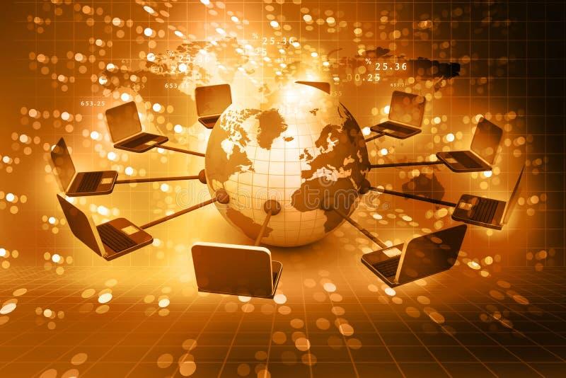 Réseau informatique global illustration stock