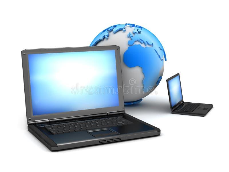 Réseau informatique global - illustration de concept illustration de vecteur