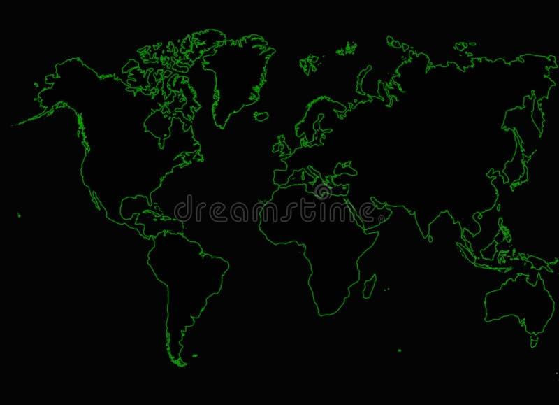 Réseau Internet de carte du monde images libres de droits