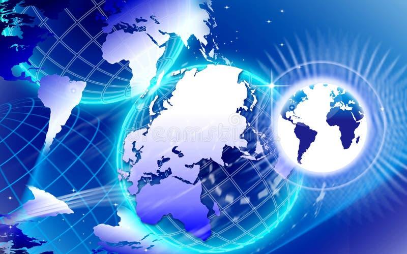 Réseau Internet du monde illustration stock