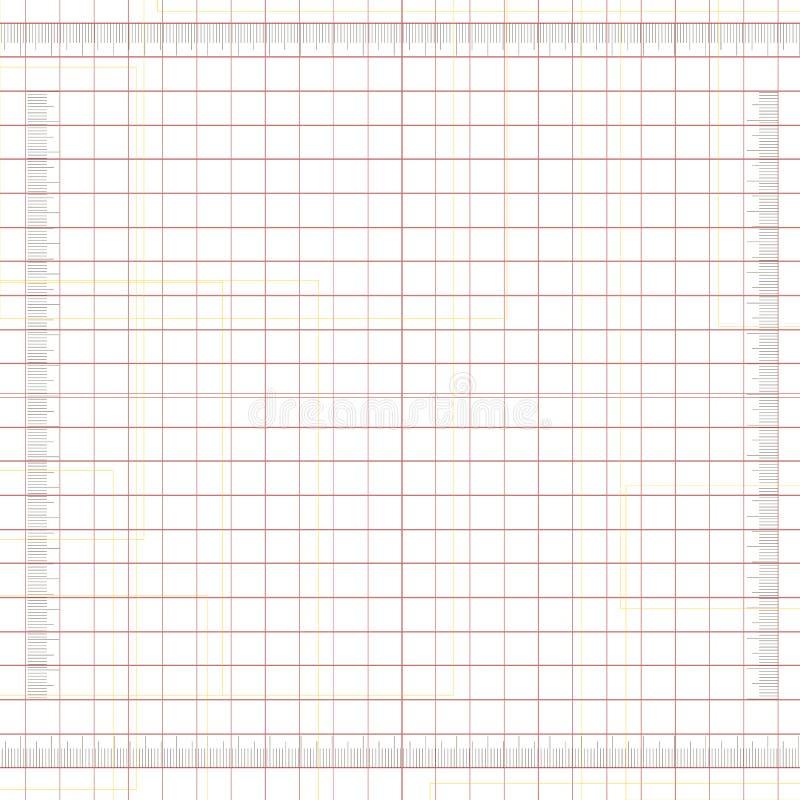 Réseau mesuré illustration de vecteur