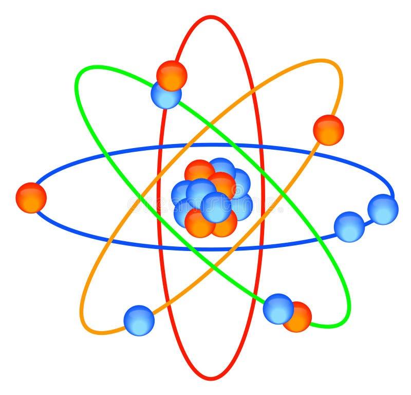 Réseau moléculaire d'atome illustration stock