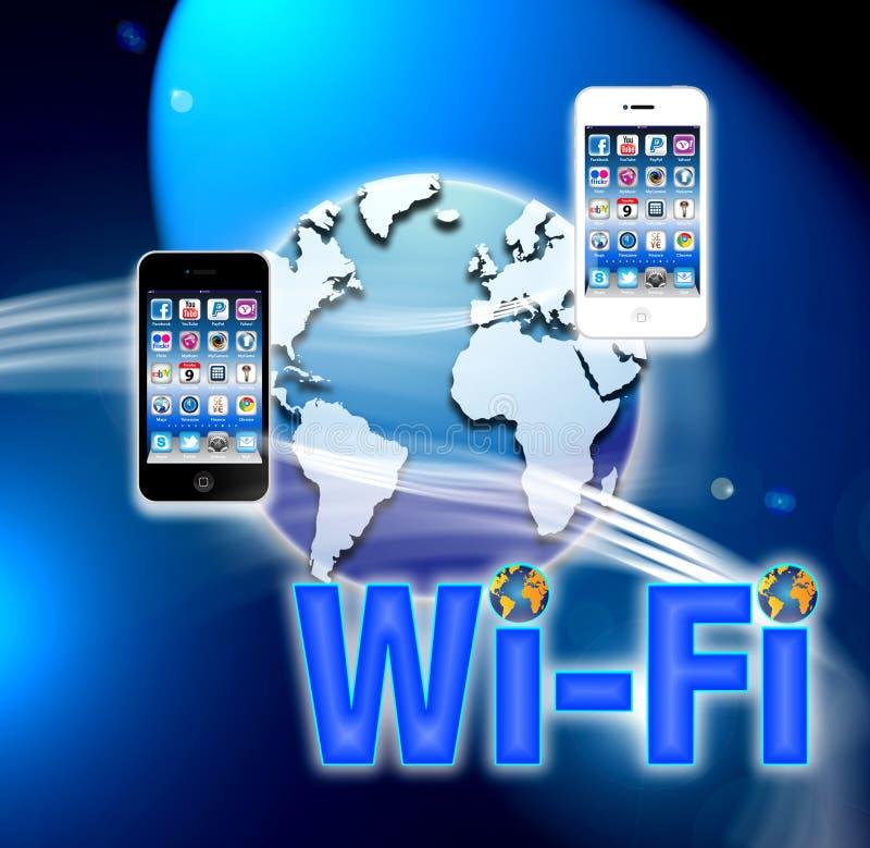 Réseau sans fil mobile de Wi-Fi illustration libre de droits
