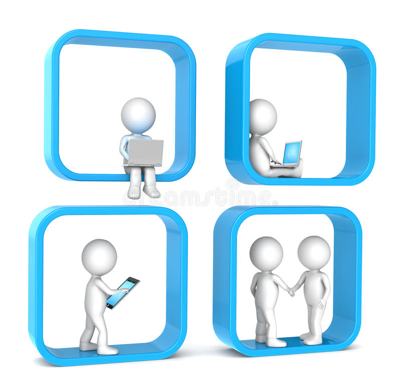 Réseau social. illustration stock